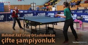 Mehmet Akif Ersoy Ortaokulu'ndan çifte birincilik
