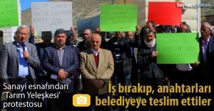 Sanayi esnafından 'Tarım Yerleşkesi' protestosu