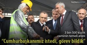 Hacı Kıyasettin Şentürk Cami temeli...