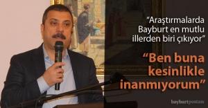 """Kavcıoğlu: """"Tartışılmayan tek yer Bayburt Kalesi"""""""