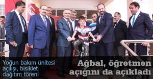 Bakan Ağbal'ın programı yoğun geçiyor
