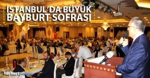 Büyük Bayburt sofrası İstanbulda...