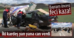 Bayburt#039;ta trafik kazası: 2 ölü,...