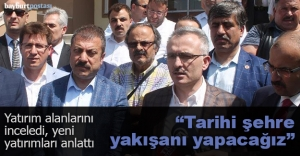 Bakan Ağbal, yeni yatırımları anlattı