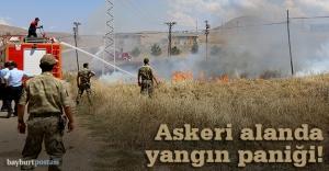 Yangın askeri alana sıçradı!