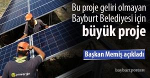 Bayburt Belediyesi, güneş santrali...