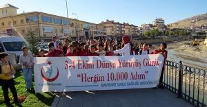Bayburt'ta 'Dünya Yürüyüş Günü' etkinliği