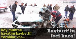 Bayburt'ta feci kaza: 1 ölü, 4 yaralı!