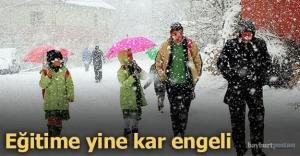 Bayburt'ta eğitime kar arası