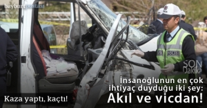 Bayburt'ta öğrenci servisi kaza yaptı: 8 yaralı