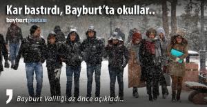 Bayburt'ta yarın okullar tatil mi?