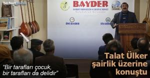 'BAYDER Kültür Sohbetleri'nde Talat Ülker konuştu