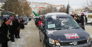 'Halep'e Yol Açın' Bayburt konvoyu hareket etti