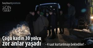 Mahsur kalan 30 yolcu 4 saat kurtarılmayı bekledi!