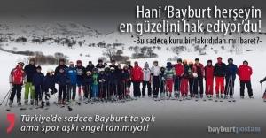 Türkiye'nin 'sahipsiz' tek kayak merkezi Bayburt'ta!