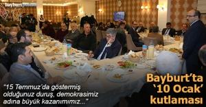 Bayburt'ta '10 Ocak Çalışan Gazeteciler Günü' kutlaması
