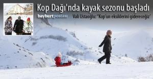 Kop Dağı'nda kayak sezonu başladı