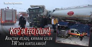 Kop'ta ölümlü kaza!