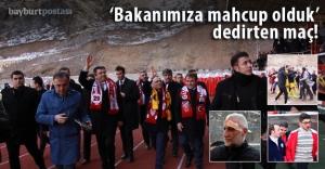 Bakan Ağbal'ın izlediği maçta olaylar çıktı!