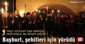 Bayburt, 'Şehitlere Saygı Yürüyüşü'nde buluştu