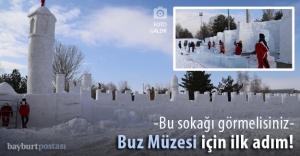 Kış kentine 'buzdan' kültür sokağı kuruldu