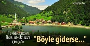 Turizmciler Uzungöl-Bayburt tünelini...