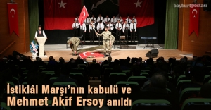 Milli Şair ve İstiklâl Marşı'nın kabulü Bayburt'ta anıldı