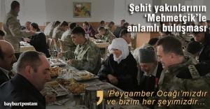 Şehit yakınlarının 'Mehmetçik'le anlamlı buluşması
