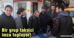 Taksiciler 'bozuk yollar' için imza topluyor