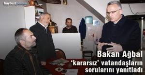 """Bakan Ağbal, """"kararsız"""" vatandaşların sorularını yanıtladı"""