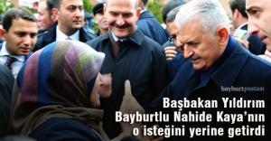 Başbakan Yıldırım Bayburtlu vatandaşın ricasını kıramadı