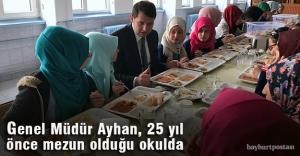 Genel Müdürü Ayhan okuduğu okulu ziyaret etti