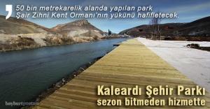 Kaleardı Şehir Parkı bu yıl tamamlanıyor