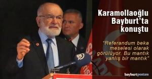Karamollaoğlu, partisinin Bayburt kongresinde konuştu