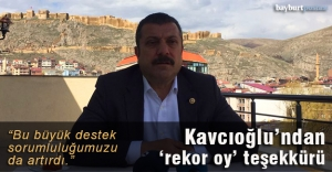 Kavcıoğlu'ndan 'rekor oy' teşekkürü