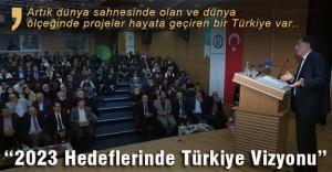 """Malkoç'tan """"2023 Hedeflerinde Türkiye Vizyonu"""" konferansı"""