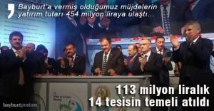 113 milyon liralık 14 tesisin temeli...