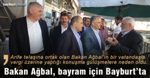 Maliye Bakanı Ağbal, Bayburt'ta