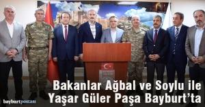 Bakanlar Ağbal ve Soylu ile Yaşar Güler Paşa Bayburt'ta
