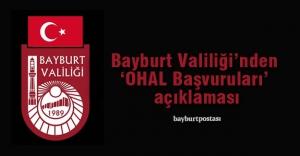 Bayburt Valiliği'nden 'OHAL' açıklaması