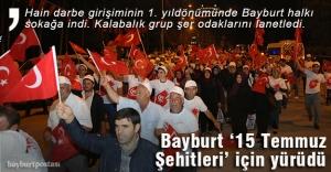 Dede Korkut şölenlerinde '15 Temmuz' yürüyüşü