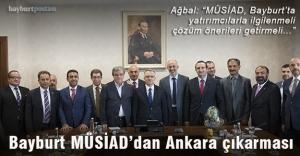 MÜSİAD Bayburt'tan Ağbal'a ziyaret