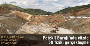 Petekli Barajı 6 bin 340 dekar araziyi sulayacak