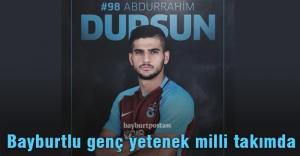 Abdurrahim Dursun milli takımda