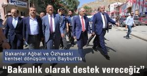 Bakanlar Ağbal ve Özhaseki Bayburt#039;ta