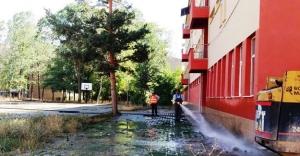 Belediyeden okullarda temizlik çalışması