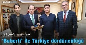 'Baberti' 186 proje arasından Türkiye dördüncüsü oldu