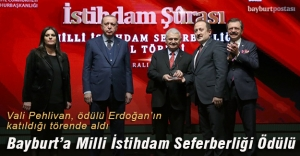 Bayburt'a Milli İstihdam Seferberliği Ödülü verildi