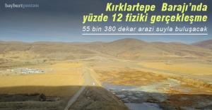 Kırklartepe Barajı'nda yüzde 12 fiziki gerçekleşmeye ulaşıldı