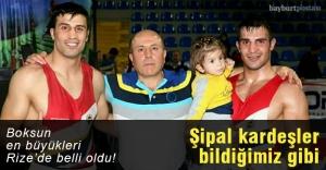 Şipal kardeşler kilolarında Türkiye şampiyonu
